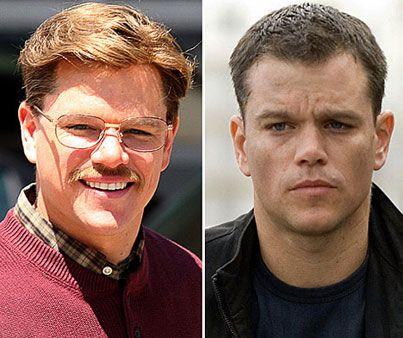 Bıyıkları ve sarı saçlarıyla bambaşka bir görünüm kazanan Matt Damon'ın bayan hayran kitlesi tehlikede...